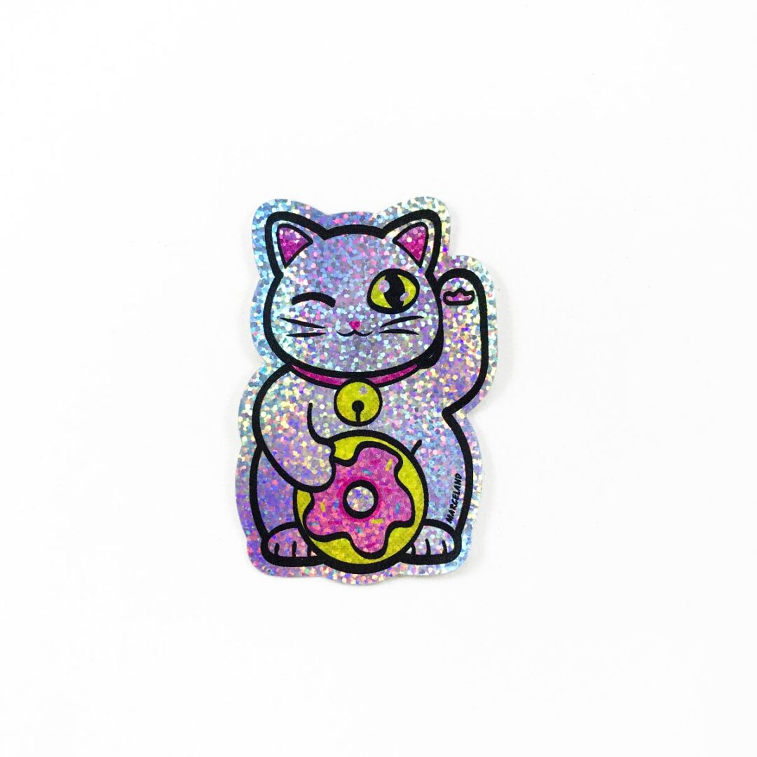Donut cat sticker holográfico