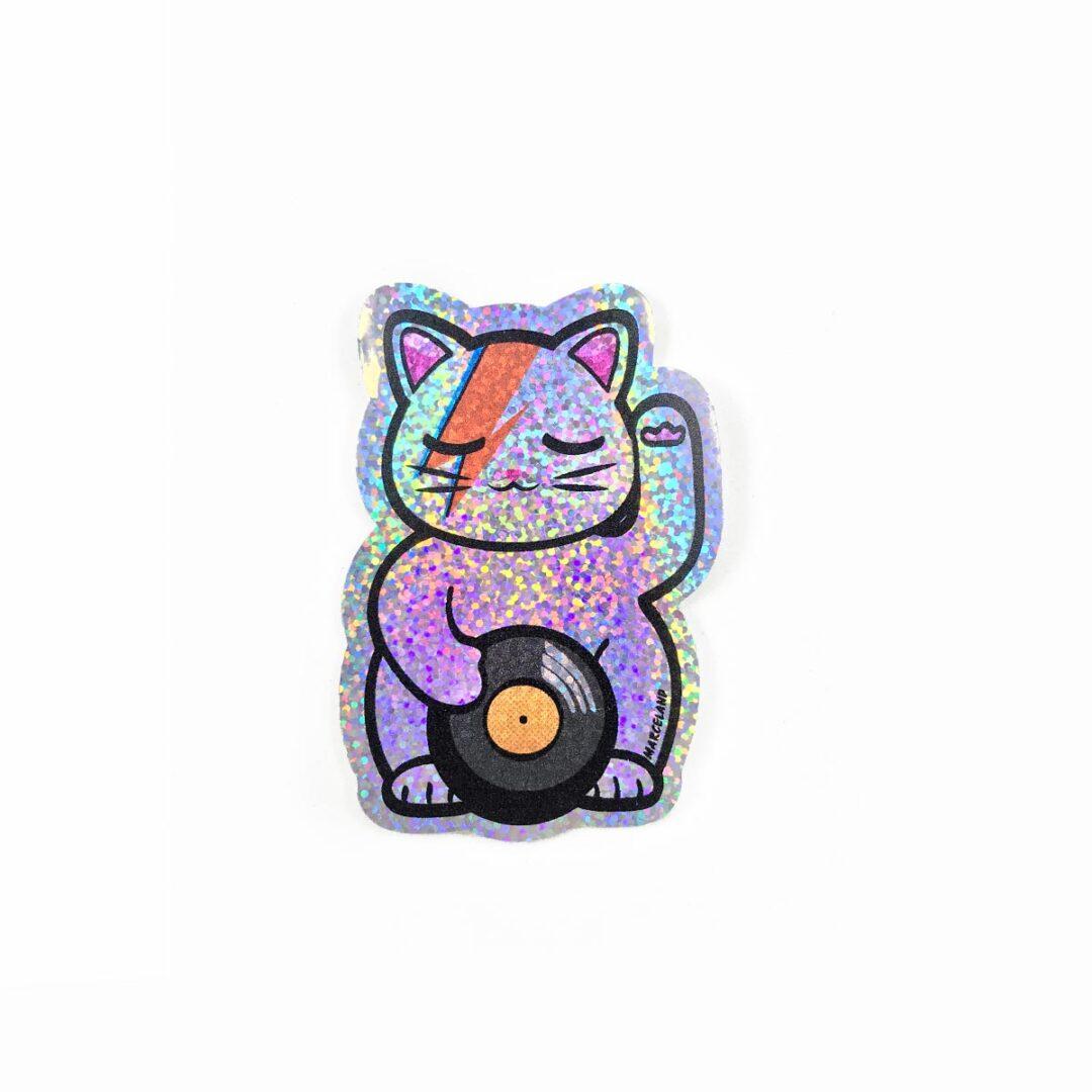 Starcat sticker holográfico