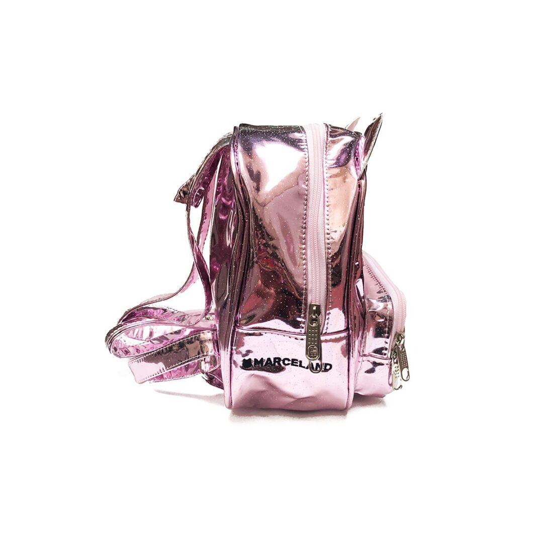Maneki mochila rosa espejo multicolor